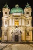 St Peter& x27; s Kerk & x28; Peterskirche& x29; in Wenen, Oostenrijk Stock Foto's