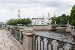 ST PETERBURG,俄罗斯,圣尼古拉斯(海军加州海军大教堂  图库摄影