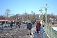 Ioannovskiy Bridge in St. Petersburg Stock Photography