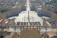 St- Peterquadrat in der Morgenleuchte Lizenzfreies Stockbild