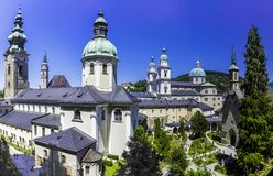 St Peters Abbey em Salzburg foto de stock