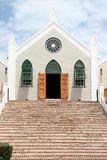 St Peters Anglican Church, St George's, Bermuda. Front of the St Peters Anglican Church which is a UNESCO world heritage site, Bermuda royalty free stock photos