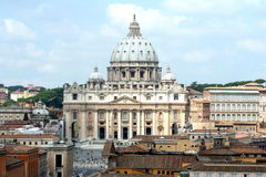 St. Peters Basilica. A view of St. Peters Basilica in Rome, Italy Stock Photos