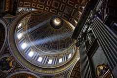 St Peters Basilica. Dome of St Peters Basilica in Vatican Royalty Free Stock Photography
