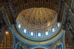 St Peters Basilica ceiling -Basilica di San Pietro Stock Photos