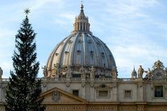 St Peters Basilica At Christmas Foto de Stock Royalty Free