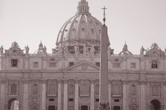 St Peters Basilica Church, Vatican, Rome Royalty Free Stock Images