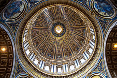St. Peters Basilica Dome Stock Photo