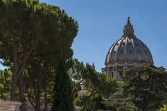 St. Peters Basilica Dome Royalty Free Stock Photo