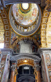 St. Peters Basilica, Indoor interior. Royalty Free Stock Images