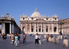 St Peters Basilica, Roma fotografie stock