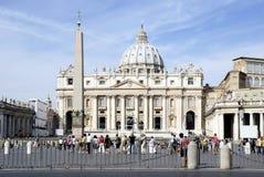 St Peters Basilica a Roma Fotografie Stock Libere da Diritti