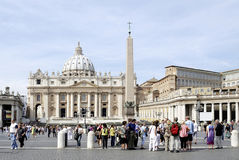 St Peters Basilica in Rome Stock Afbeelding