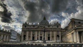 St. Peters Basilica Rome. HDR Timelapse of St. Peter's Square at the Vatican in Rome stock video