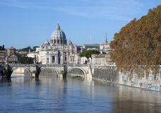 St Peters Basilica. At Rome, Italy royalty free stock image