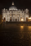 St. Peters Basilica in Rome, Italy. Papal seat. Vatican City. Royalty Free Stock Photography