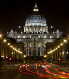 St. Peters Basilica in Rome, Italy. Papal seat. Vatican City. Stock Photos