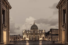 St. Peters Basilica in Rome Stock Photography