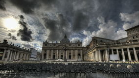St. Peters Basilica Rome. Timelapse of St. Peter's Square at the Vatican stock footage
