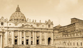 St. Peters basilica, Vatican, aged photo Royalty Free Stock Photo