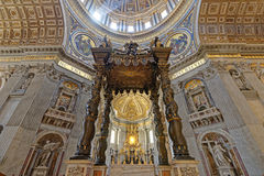 St. Peters Basilica, Vatican City. Image taken of St. peters basilica, vatican city, rome, italy Stock Photo