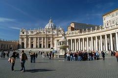 St Peters Basiliek, het Vatikaan. Royalty-vrije Stock Foto