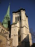 St. Peters Cathedral. In Geneva, Switzerland stock images