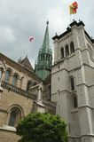 St. Peters Cathedral in Geneva, Switzerland Stock Photography