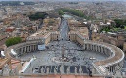 St Peters Cathedral, Ville du Vatican, Italie Images libres de droits