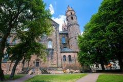 St Peters Church avmaskar in, Rheinland-Pfalz, Tyskland Arkivfoton