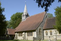 St Peters Church em Wherwell hampshire inglaterra Foto de Stock