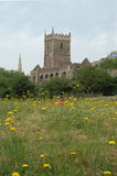 St Peters Church en el parque Bristol del castillo Imagen de archivo libre de regalías