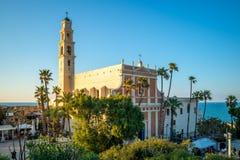 St Peters Church, Jaffa nära Tel Aviv, Israel royaltyfri fotografi