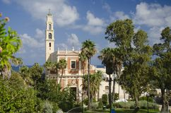 St Peters Church no Jaffa velho imagem de stock