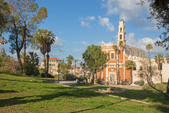 The st. Peters church in old Jaffa in Tel Aviv Royalty Free Stock Images