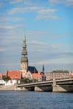 St Peters Church a Riga, Lettonia Fotografia Stock