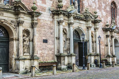 St Peters churchs ingang Riga, Letland Royalty-vrije Stock Afbeeldingen