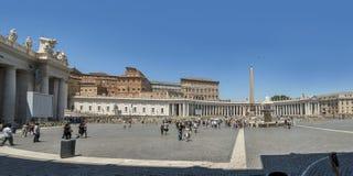 St peters kwadrat przed bazyliką tła bazyliki bernini miasta fontanny Peter Rome s kwadratowy st Vatican Zdjęcie Royalty Free