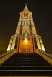 St Peters Landmark, el Dalles, Oregon en la noche Fotografía de archivo