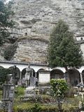 St. Peters monastery and cemetery in town of Salzburg, Austria royalty free stock photography
