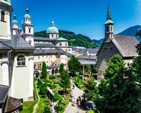 St Peters opactwo w Salzburg zdjęcia stock