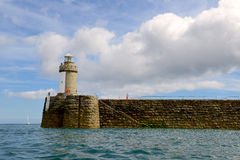 St Peters Port Lighthouse on Guernsey Island Stock Photo