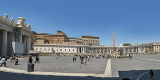 St. peters Square in Front of Basilica. Vatican City. Rome, Italy July, 3 2016: St. peters Square in Front of Basilica. Vatican City Royalty Free Stock Photo
