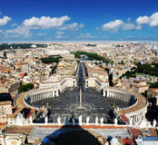 St. Peters Square (and Rome) from above, Vatican aerial Stock Photos