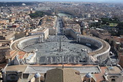 St. Peters Square (Rome,Italy ) Royalty Free Stock Photos