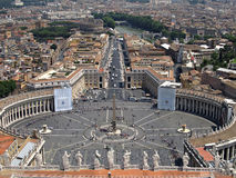 St Peters Square in Vatican Stock Photography