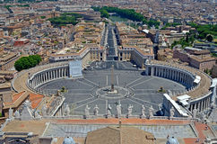 St. Peters Square, Vatican City. Heart of the Christianity royalty free stock image