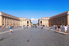 St. Peters Square in Vatican City Royalty Free Stock Image