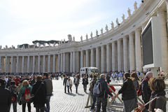 St. Peters Square Vatican City Royalty Free Stock Images