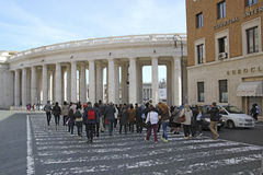 St. Peters Square Vatican City Royalty Free Stock Photography